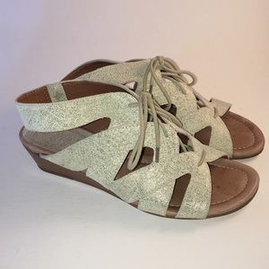 Donald Pliner Dalie Lase Sandals, Gold Flecked